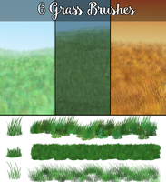 6 Grass Brushes by EdithSparrow