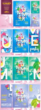 Tropical Summer Flyer Template by ranvx54