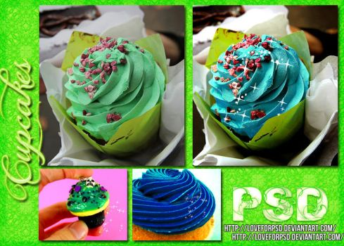 Cupcakes.PSD by LoveForPsd