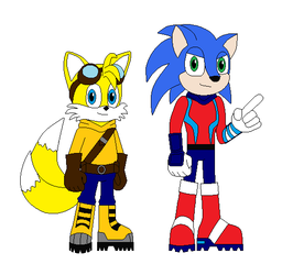 My version of Sonic and Tails (Games and Cartoons) by star153