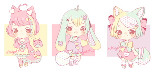 Adoptables - Tricolor (sold out) by ichiipon