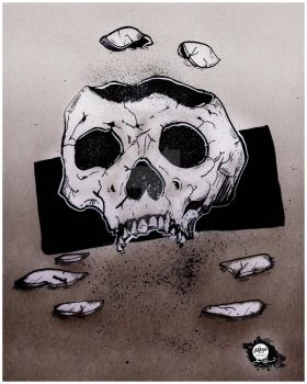 INKtober | 20171012 | Shattered - Skull by CarterPhotography