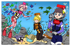 Diving at the Water Preserve 3 - Colored Version by The-Sakura-Samurai