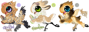 Soft fluffy bbies 2/3 - AUCTION - CLOSED by Simonetry