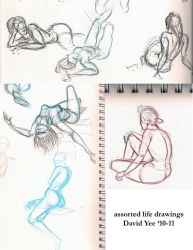 assorted life drawings by gkotm