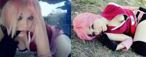 Sakura Haruno Cosplay -Before and After - by Nao-Dignity