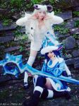 Winter Wonder Lulu cosplay and the little Poro by MiikHyDeafening