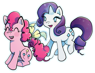 Pinkie Pie and Rarity by Butterscotch25