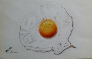 Fried egg by WessamADEN