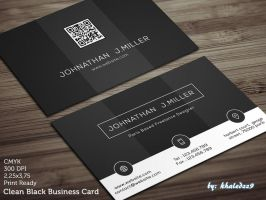 Clean Black Business Card by khaledzz9