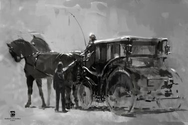 20150706 Horses Carriage by psdeluxe