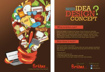 sribu.com flyer design by noodlekiddo