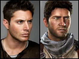 Jensen Ackles for Nathan Drake by luckynumberslvn