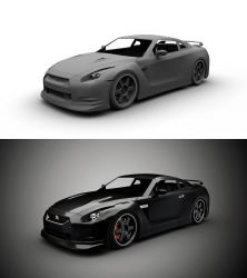 Nissan GTR Rework WIP 2 by gbpackers