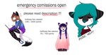 emergency comissions open by skailak