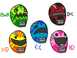 Emotion Driven Power Rangers by The-Knick