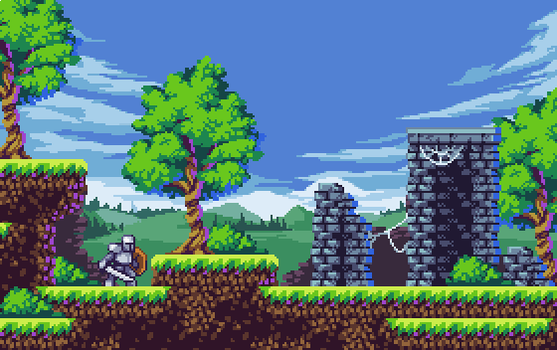 Forest Ruins mockup by aamatniekss