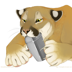 A Cougar in the kitchen by Bear-hybrid