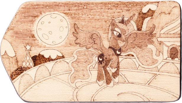 Return from the night shift - pyrography by Malte279