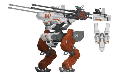Russian anti-aircraft mecha by marksanwel