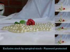Precious - rose + pearls 3 by Eyespiral-stock