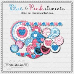 scrapbooking: pink and blue by Etoile-du-nord