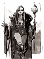 Mage Woman : Inktober Day 12, 2016 by aaronminier