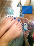 Micro Brother Stranded on Blue Toes by youranus32