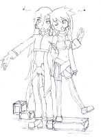 Vocaloid Neige and Omega -AT by ZeroMidnight