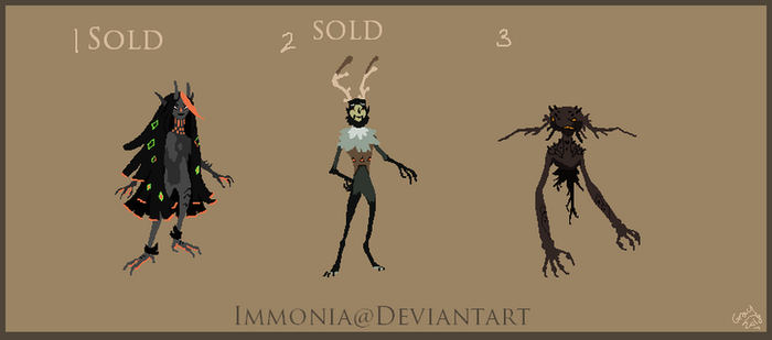 Humanoid Adopts 77 [Point Option Available] by Adopt-Monstar