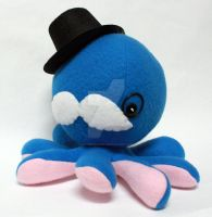 Blue gentleman octoplushie by jaynedanger
