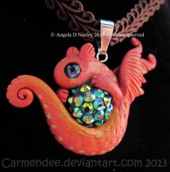 red sparkle dragon by carmendee
