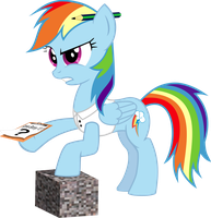 Rainbow Dash and the Gravel block by RatchetHuN