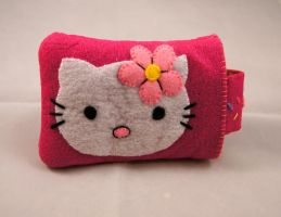 Hello Kitty Phone Case by VickitoriaEmbroidery