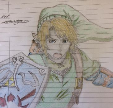 Legend of Zelda Link completed  by epicbubble7