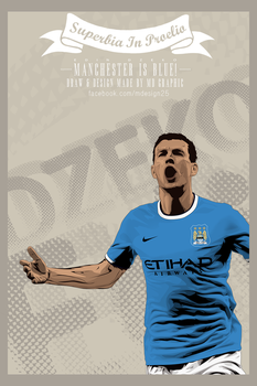 Edin Dzeko Vector by MDesign25