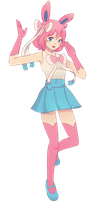 Sylveon Trainer by littlemiss-princess