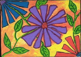 My first ATC - Flowers 1 by angelstar22