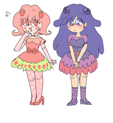 Strawbella and Blerry by mabill2001