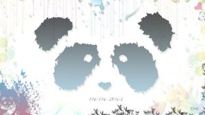 Panda Wallpaper (1366x768 px) HD Quality by Ovii-Graphics