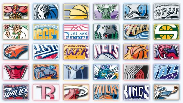 NBA Logos by Wordup