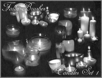 Candles Brushes Set 1 by Falln-Stock