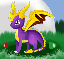Spyro the Dragon by KendraTheShinyEevee