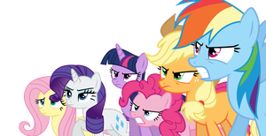S05E09 Mane Six Ready to Battle by S-Guri