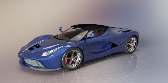 LaFerrari Blue by TheRedCrown