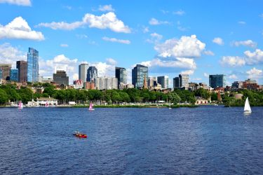 View of Boston from Cambridge by jziani