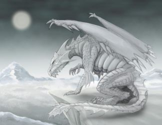 White Dragon by RisingDragonArt
