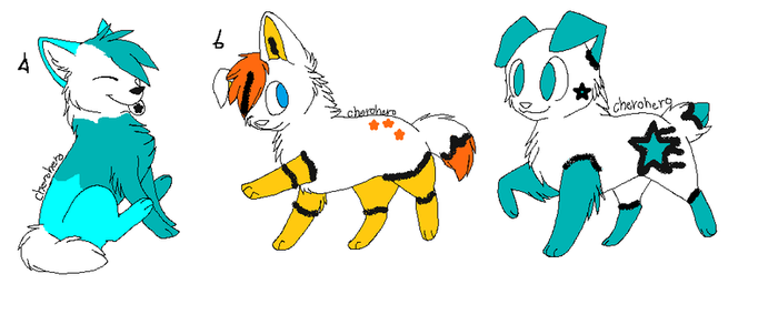 Candycorn x Unnamed Pups/Kits by Oversea-adopts