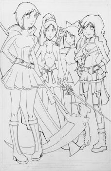 RWBY line work by kar123