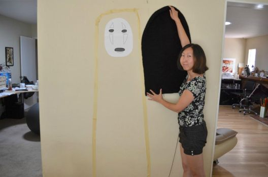 Giant No Face Crochet Work in Progress by Ami-Amour